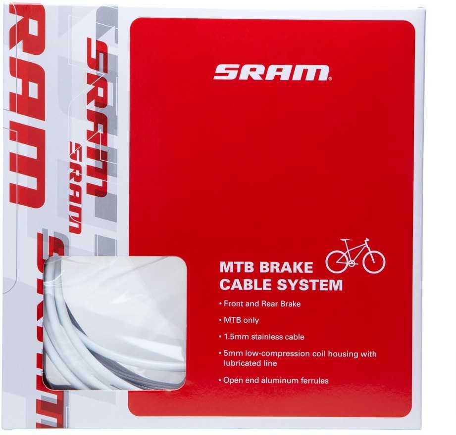 Bromsvajerset SRAM Mountainbike vit