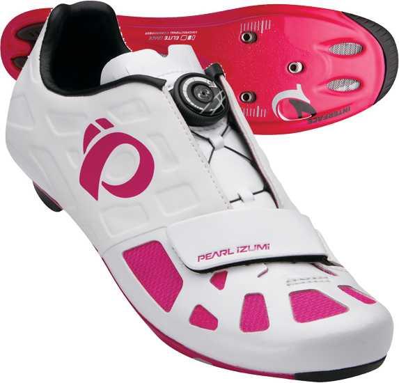SKO PEARL IZUMI ELITE ROAD IV dame HVID/ROSA   Shoes and overlays