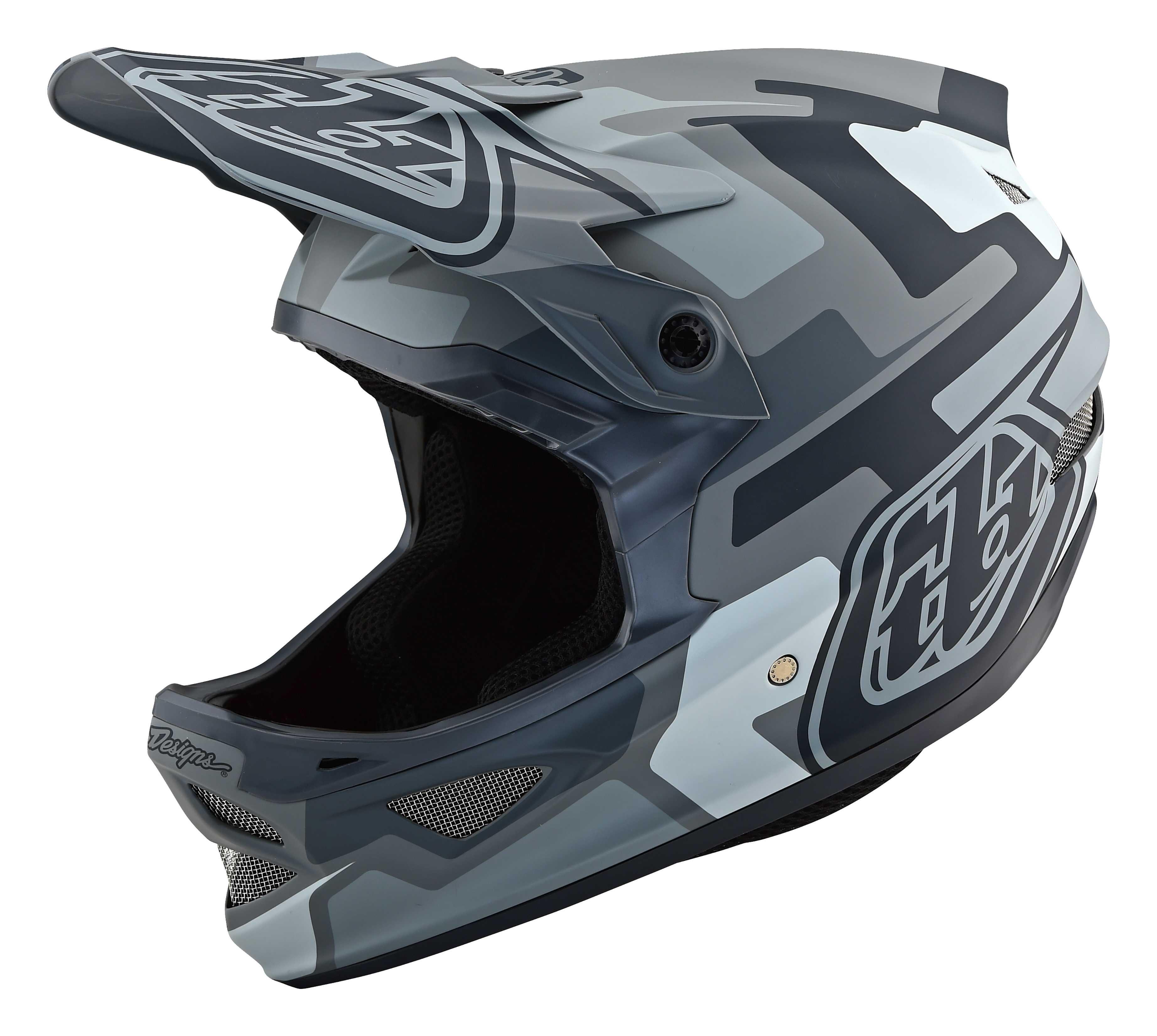 Hjelm Troy Lee Designs D3 Fiberlite Speedcode grå | Helmets