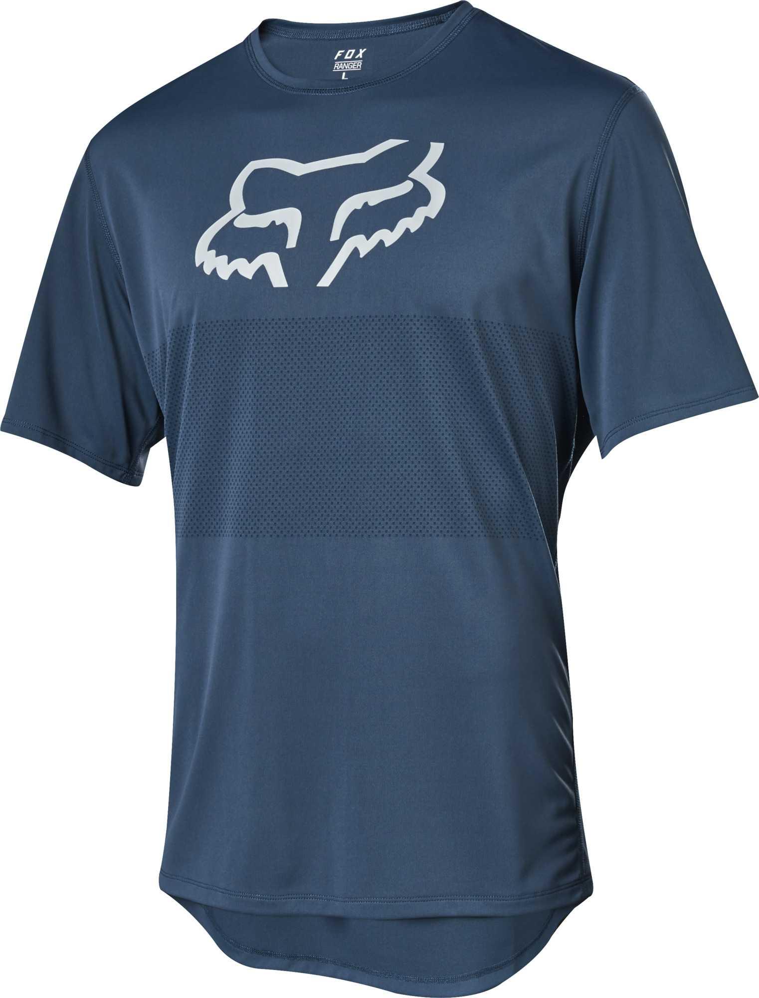 Trøje Fox Ranger Foxhead SS blå   Jerseys