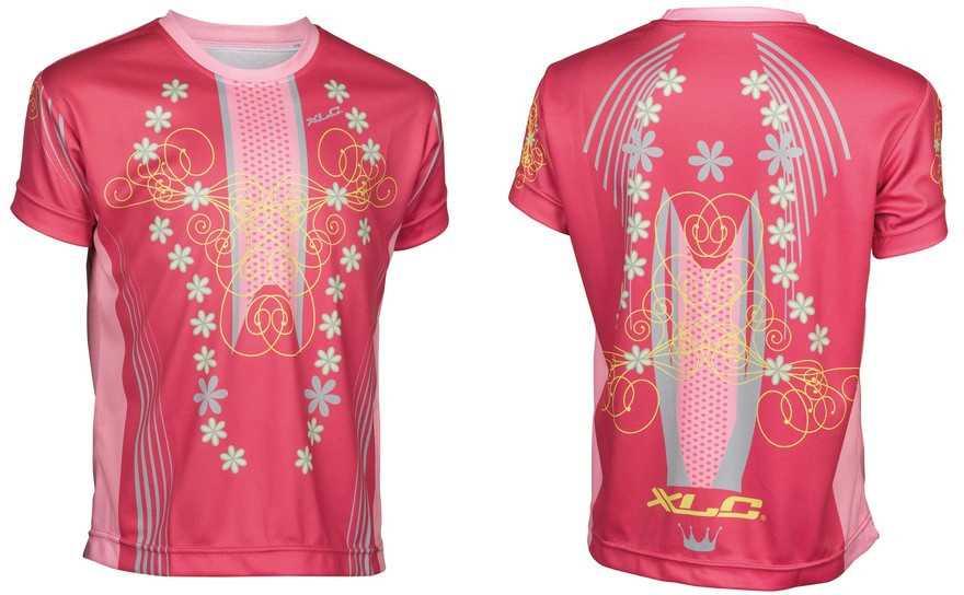 Tröja XLC JE-S16 Princess Junior rosa/grå | Jerseys