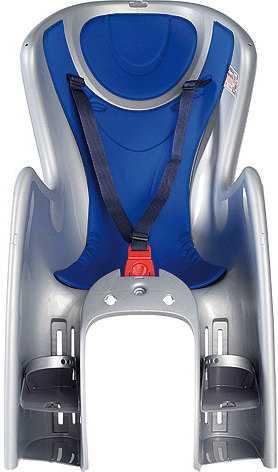 Cykelsits Okbaby Body Guard Pakethållarfäste silver/blå