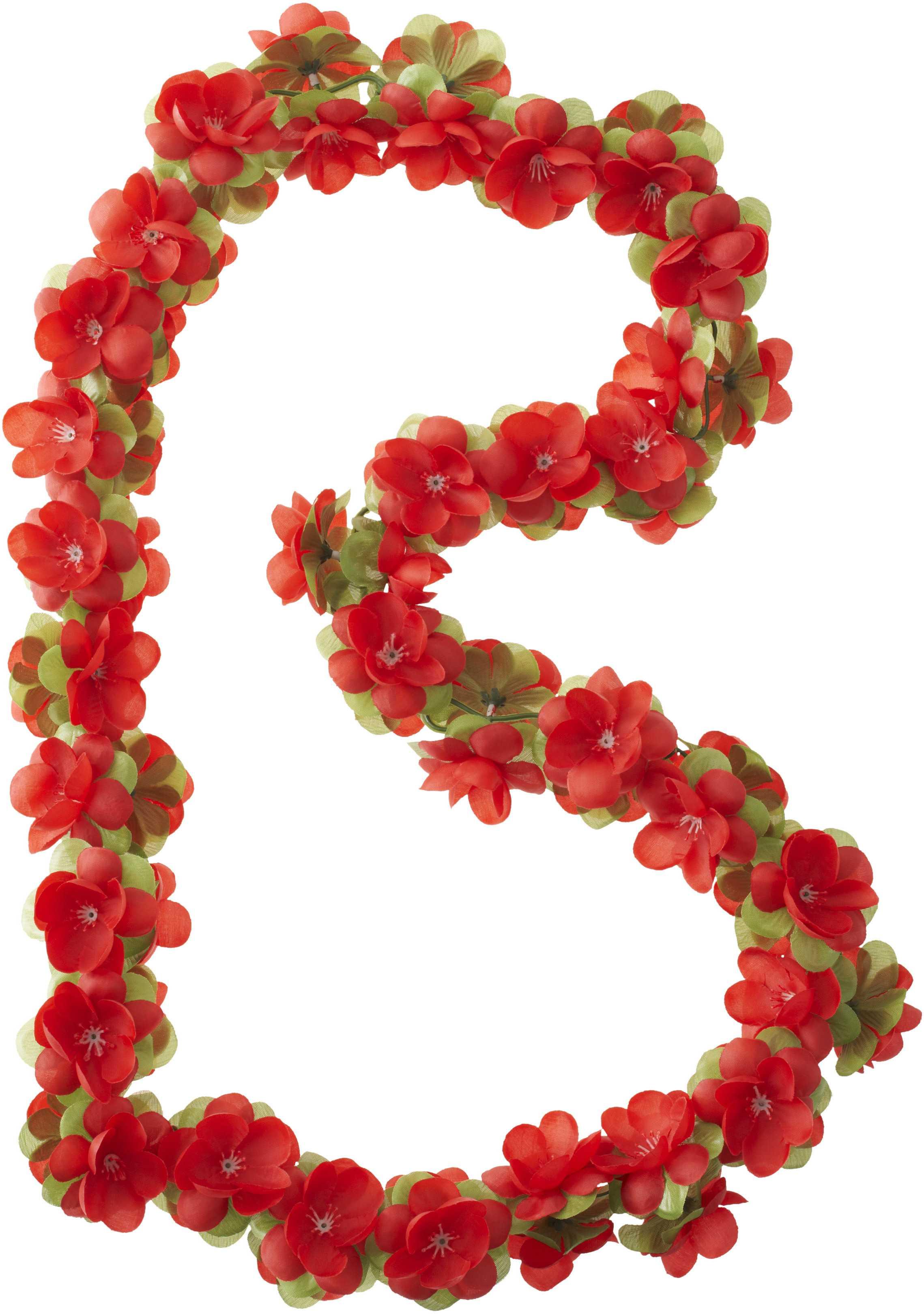 Girlang Basil 130 cm röd/Slöjblomma