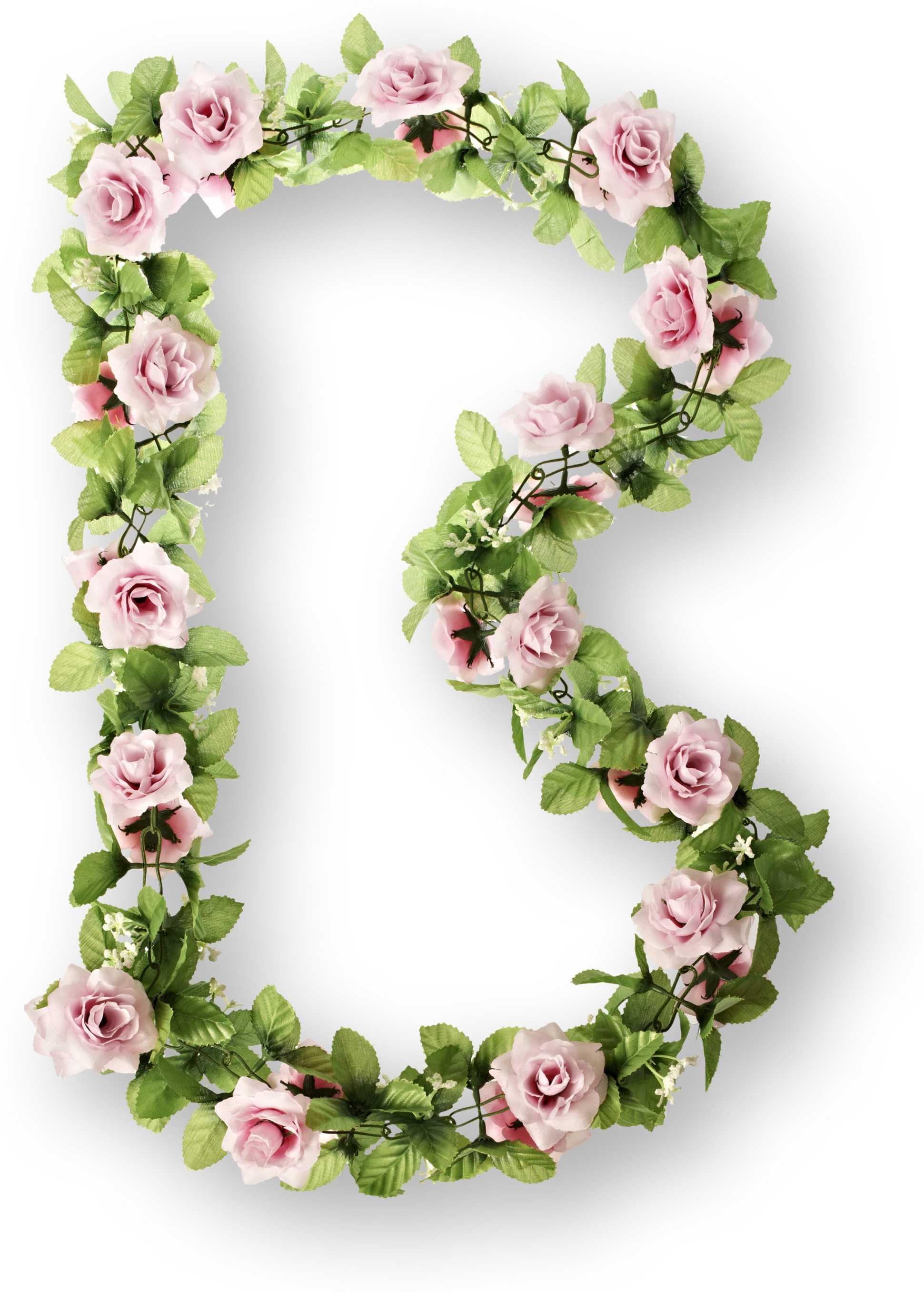 Girlang Basil 130 cm rosa/Rosor