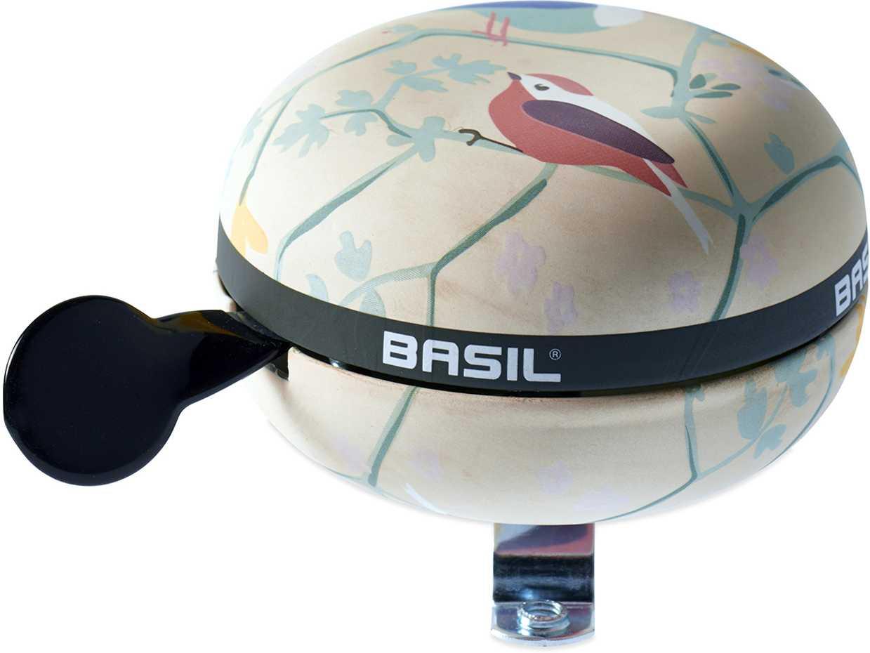 Ringklocka Basil Wanderlust Big Bell vit/Fågelmönster