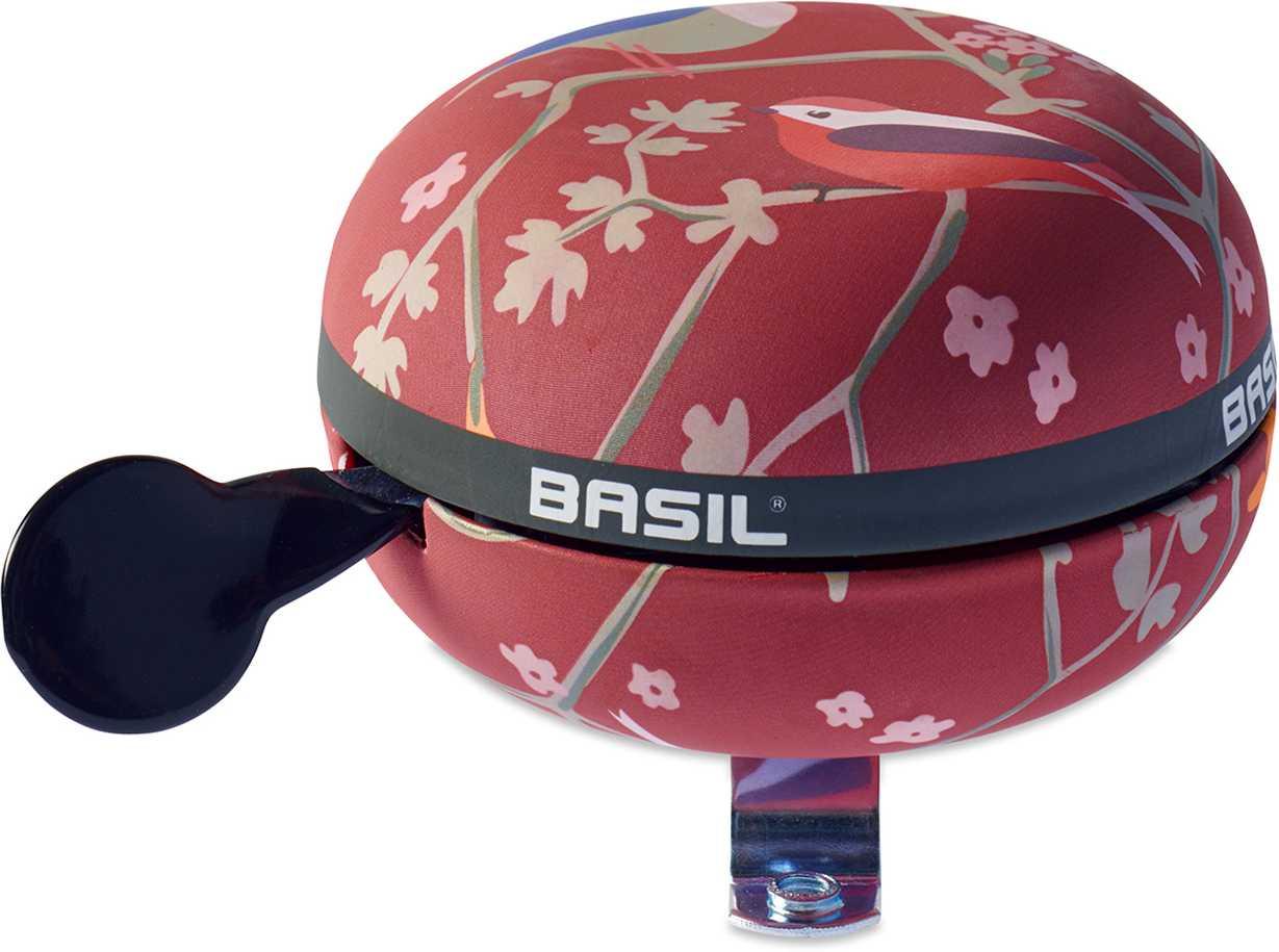 Ringklocka Basil Wanderlust Big Bell röd/fågelmönster