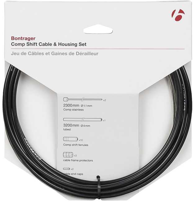 Växelvajerset Bontrager Comp Shift rostfri 1.1 x 2300 mm   Gearkabler og wire