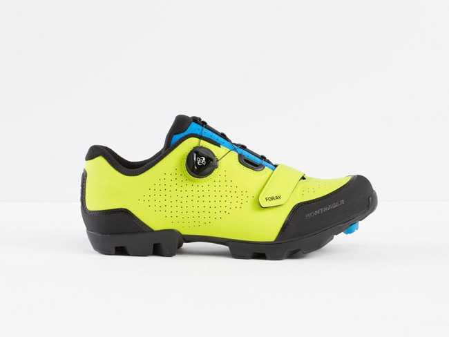 Sko Bontrager Foray gul/blå | Shoes and overlays
