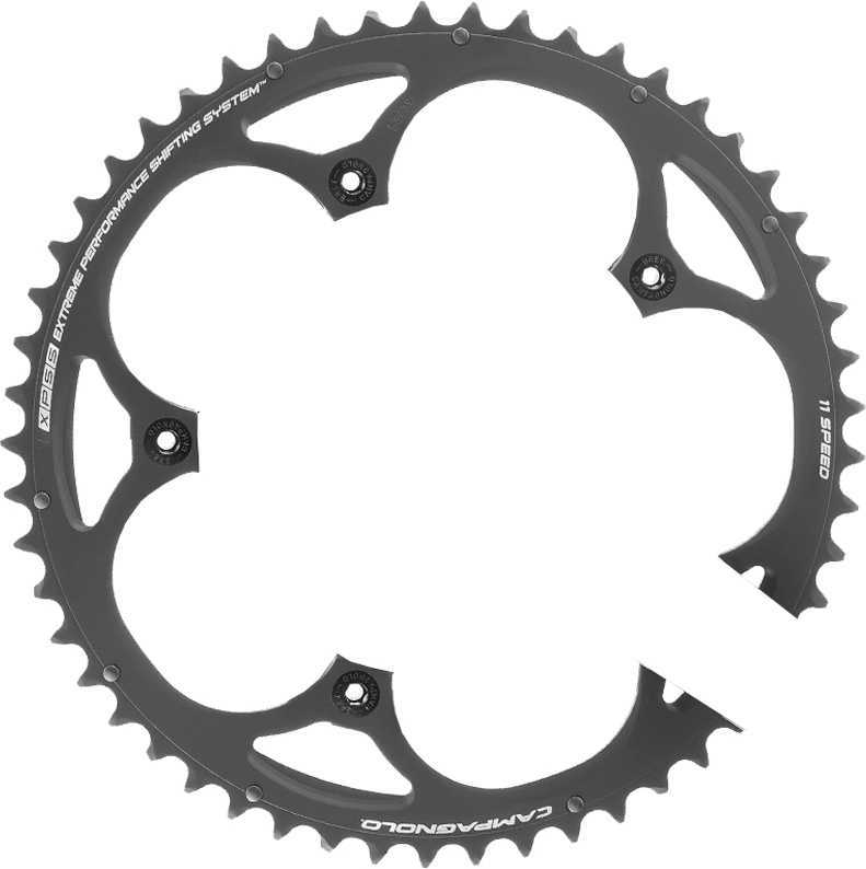 FRONT KLINGE CAMPAGNOLO ATHENA CT 110 BCD 2X11 GEAR 50T SORT | chainrings_component
