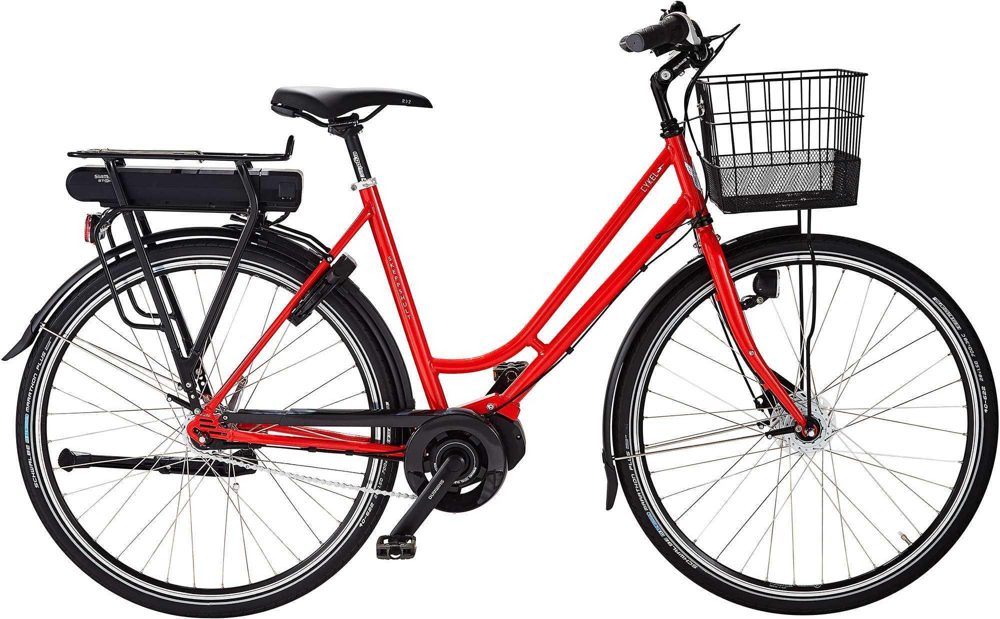 Skeppshult dam cykEL 7-växlad innerligt röd metallic 53 cm