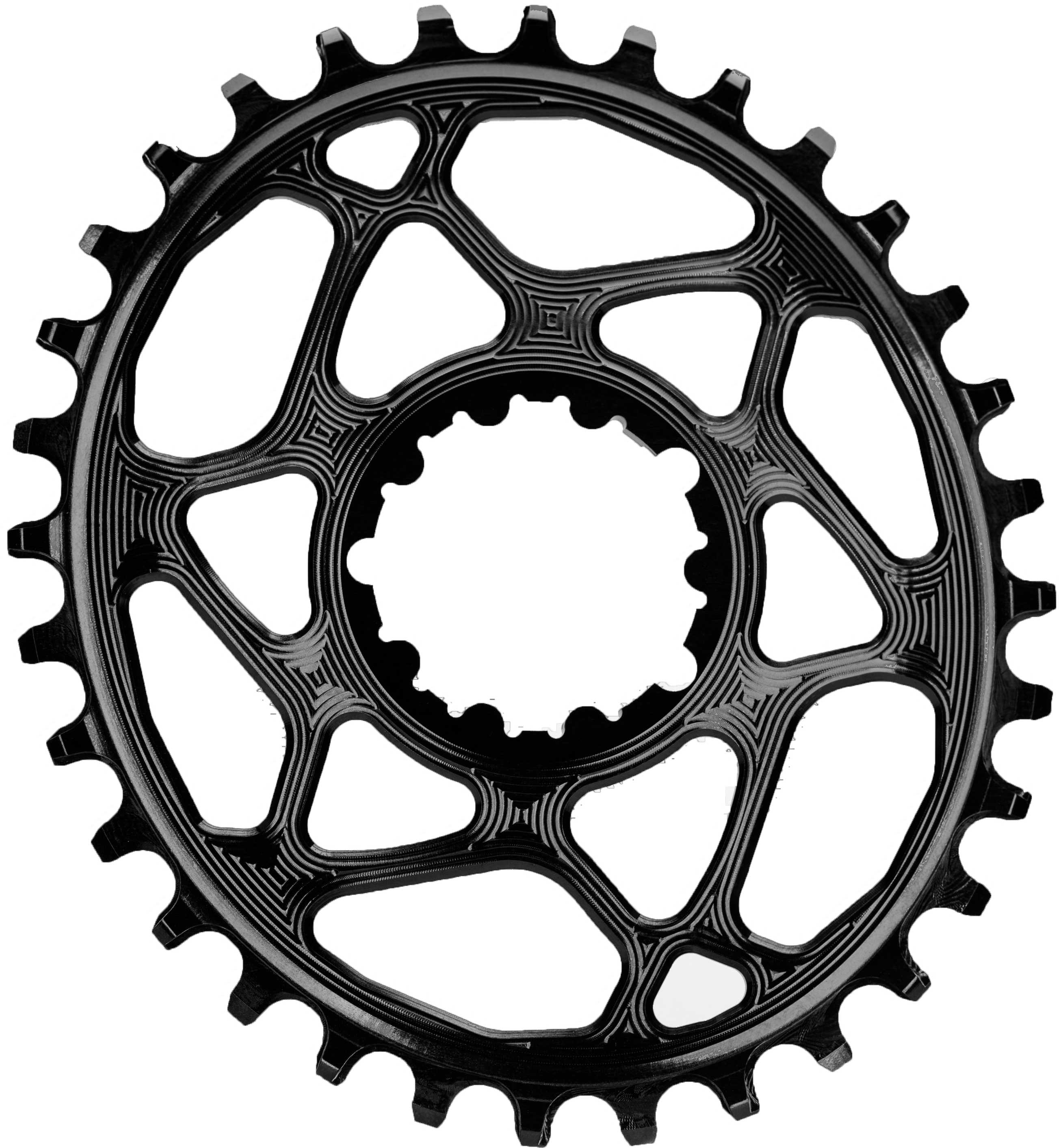 FRONT KLINGE ABSOLUTEBLACK OVAL NARROW-WIDE BOOST 148 SRAM DIRECT MOUNT 32T SORT | chainrings_component