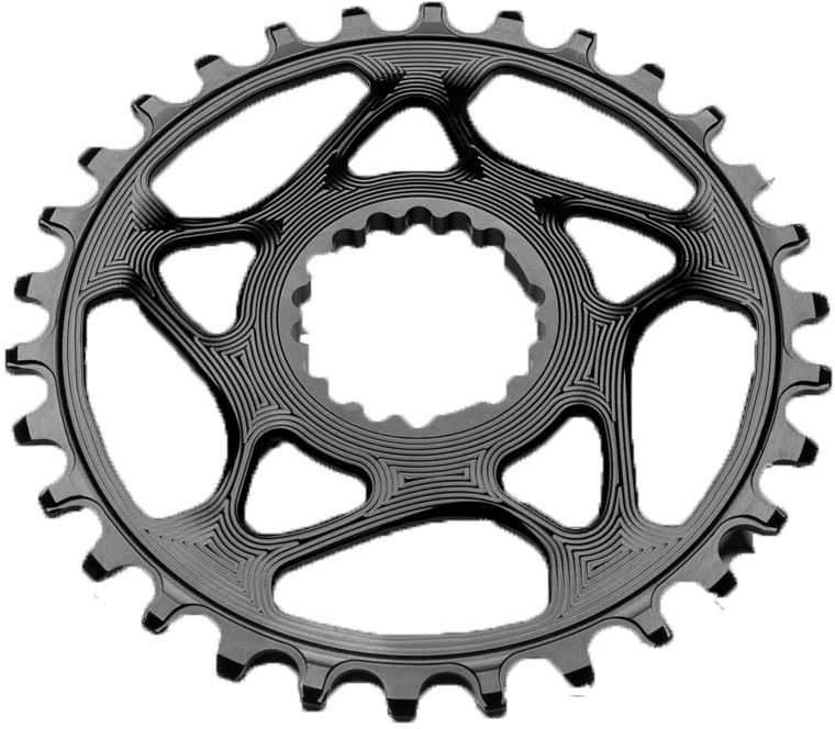 FRONT KLINGE ABSOLUTEBLACK ROUND NARROW-WIDE CANNONDALE HOLLOWGRAM 34T SORT | chainrings_component