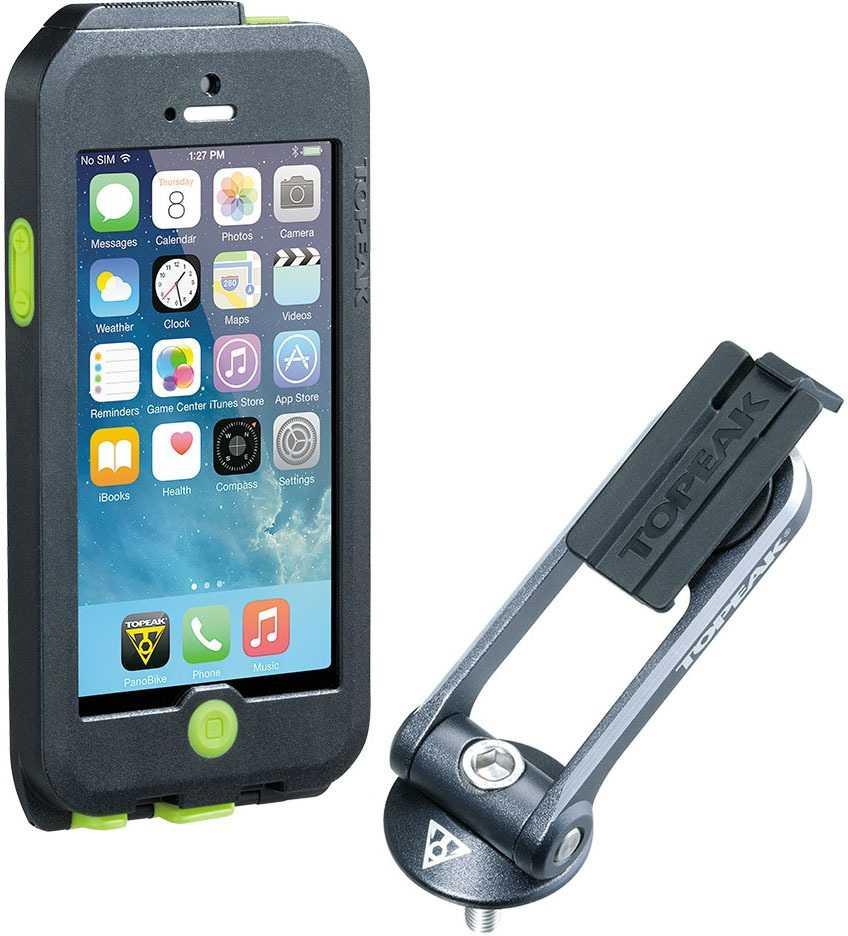 Telefontaske Topeak Ridecase iPhone SE/5/5S sort/grøn | phone_mounts_component