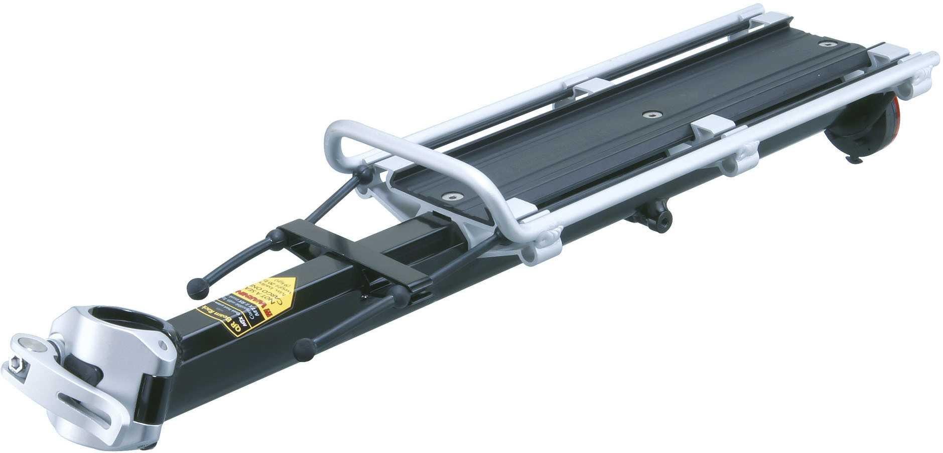 Pakethållare för sadelstolpe Topeak MTX Beamrack E-Type svart/silver | Rear rack