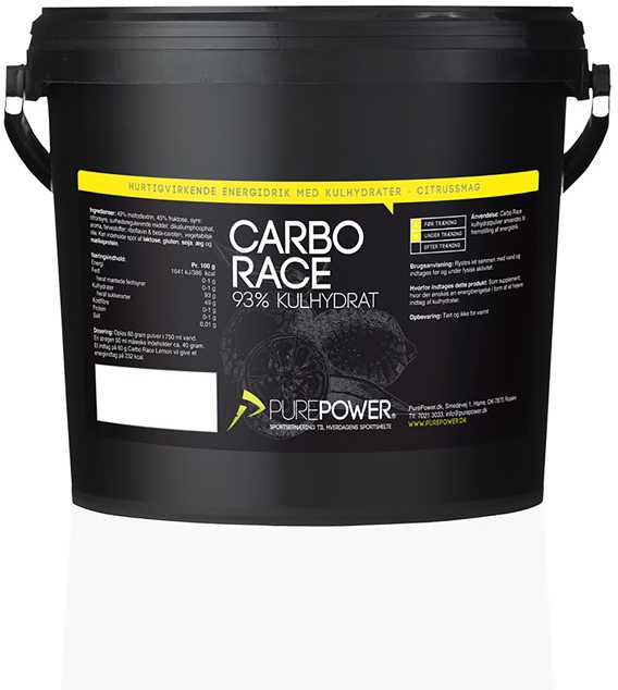 Sportsdrik PurePower Carbo Race 3 kg Citrus   Energidrik og pulver