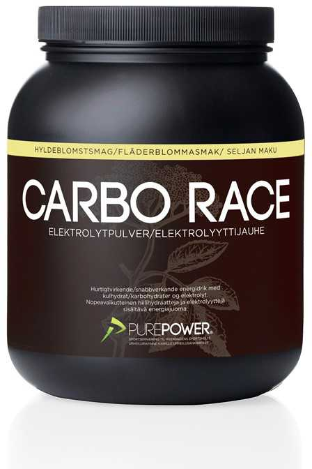 Sportsdrik PurePower Carbo Race Electrolyte 1.5 kg hyllebær   Energidrik og pulver