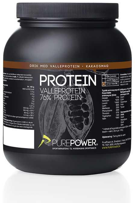 Proteinpulver PurePower PP Protein 1 kg chokolade   Proteinbar og -pulver