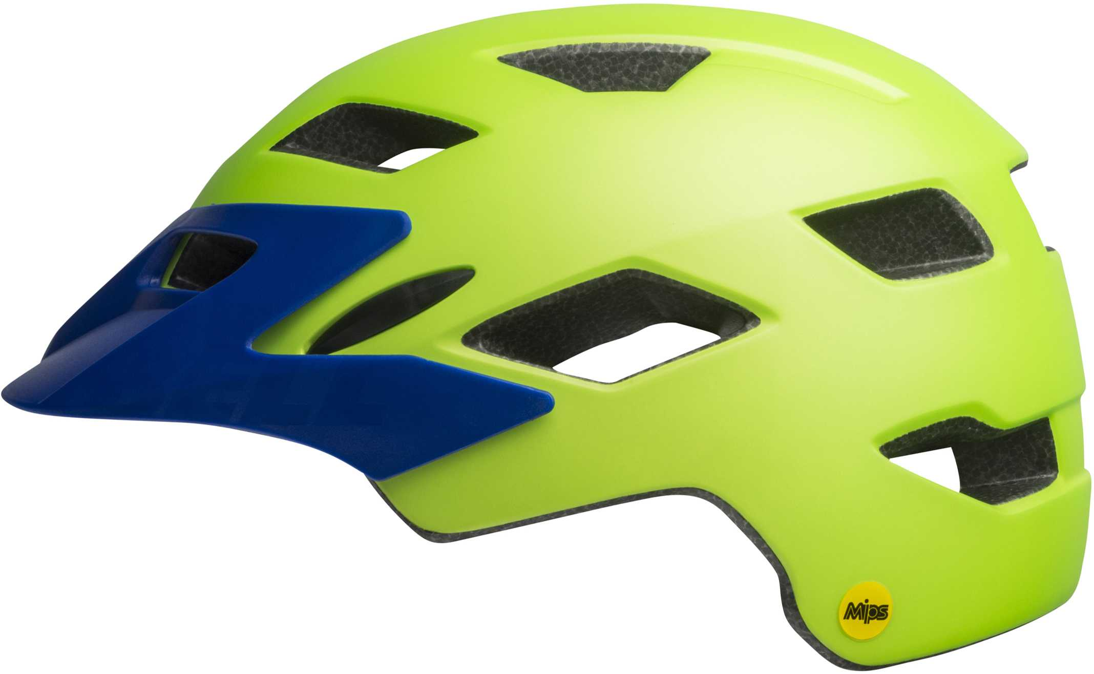 Bell Sidetrack Youth MIPS Helmet - matte bright green/blue | Helmets