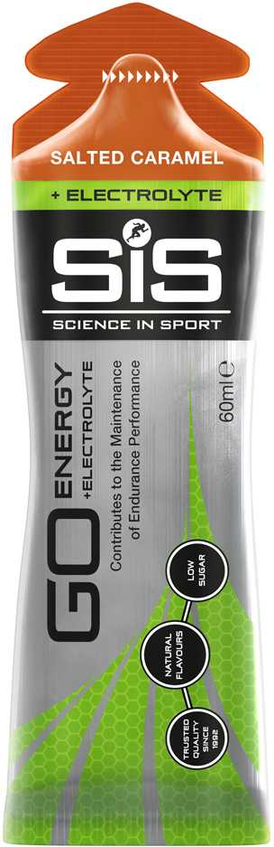 Energigel SIS Go Energy + Electrolyte 60 ml saltad karamell   Energy gels
