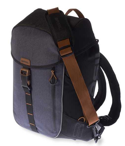 Packväska Basil Miles Daypack 17 l svart/grå
