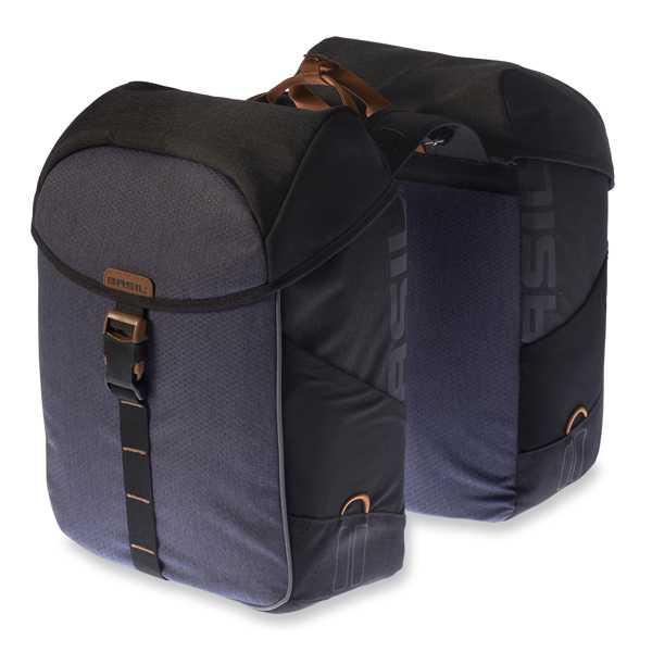 Packväska Basil Miles Double 34 l svart/grå