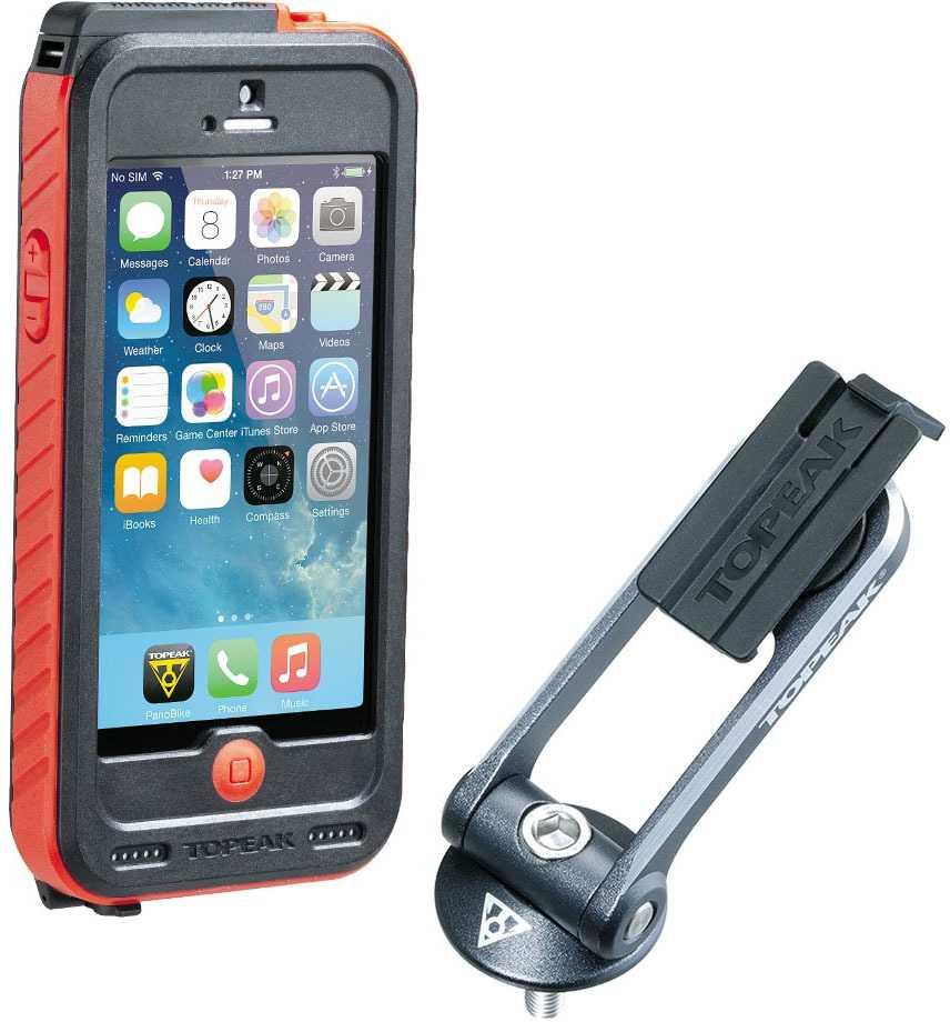 Telefonväska Topeak Ridecase iPhone SE/5/5S svart/röd + Powerpack 3150 mAh