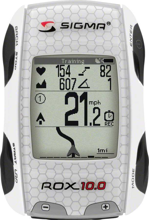 Cykeldator Sigma Rox 10.0 gps Set vit