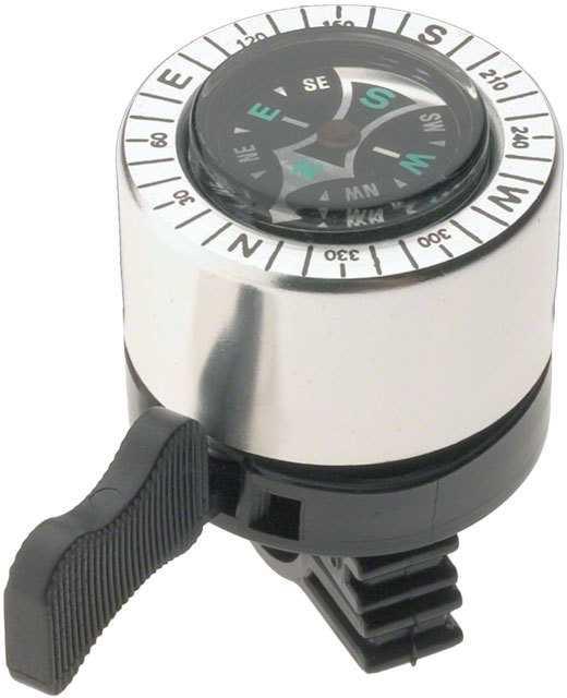 Ringklocka Dimension Compass silver/svart