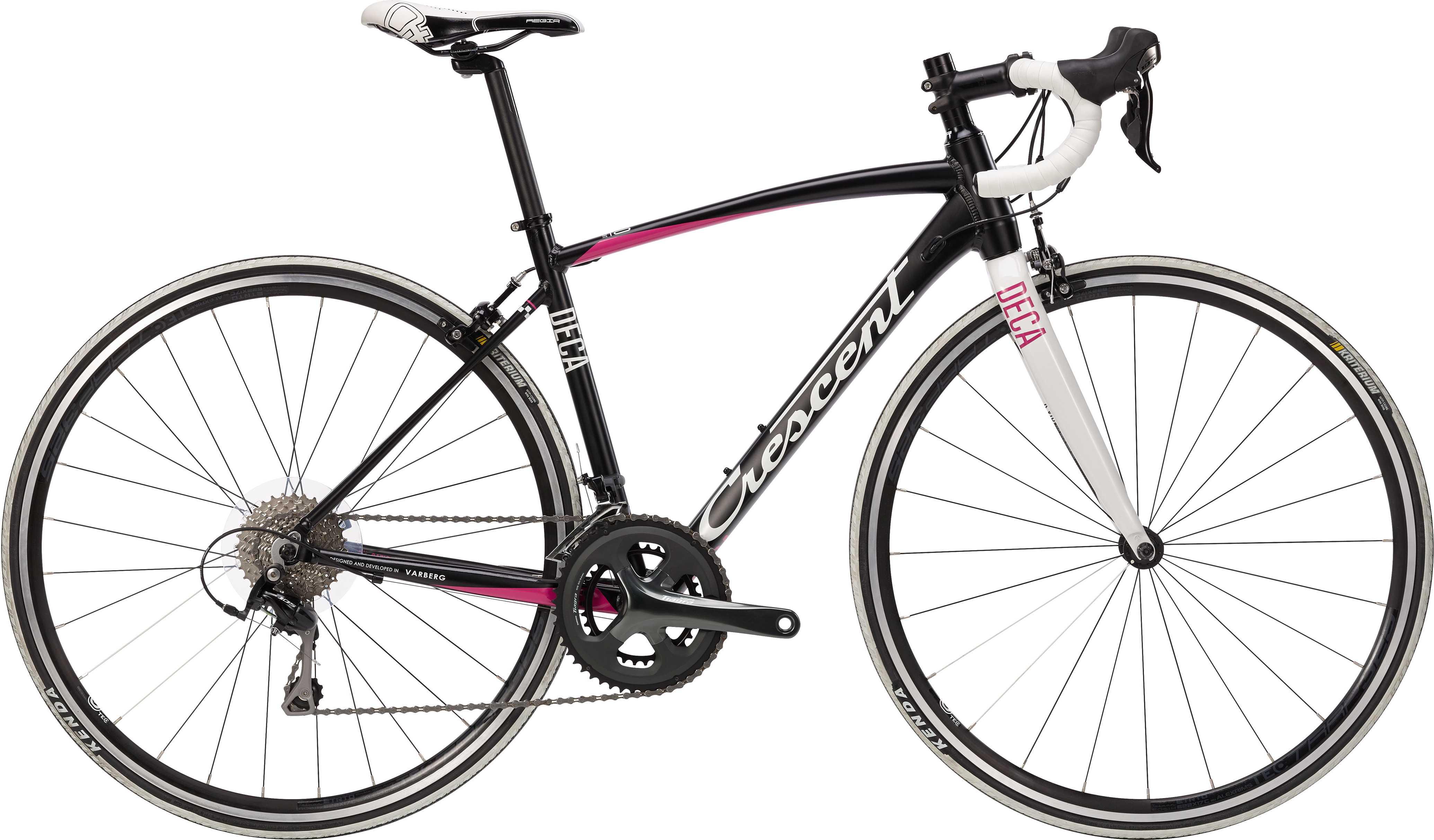 Crescent Deca matt svart/rosa 46 cm