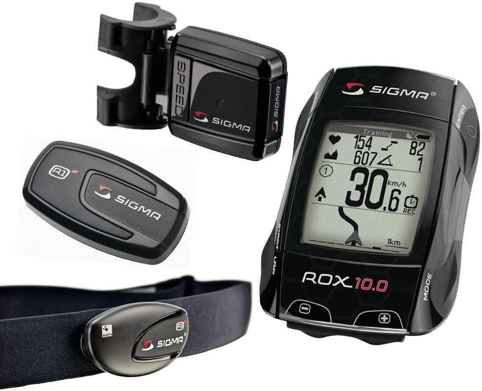 Cykeldator Sigma ROX 10.0 GPS set svart