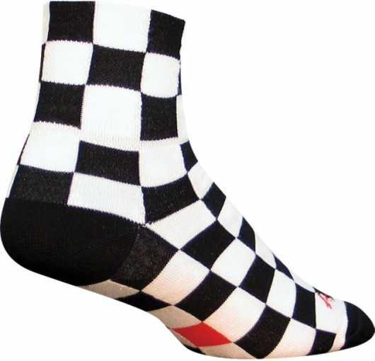 Strømper Sockguy Ridgemont Rutig sort/hvid | Socks