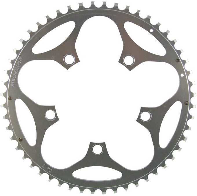 FRONT KLINGE STRONGLIGHT 130 BCD 9/10 GEAR 53T SILVER | chainrings_component