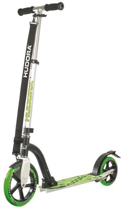"Sparkcykel City Scooter Big Wheel Hudora Aluminium (9""hjul)"