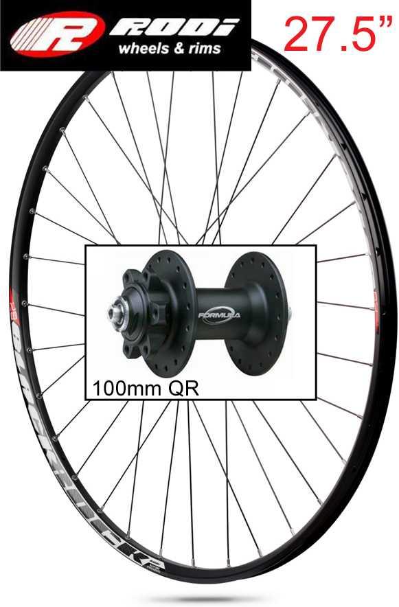 Forhjul blackrock 27.5 sort Discnav 100 mm Qr 32H | Wheelset