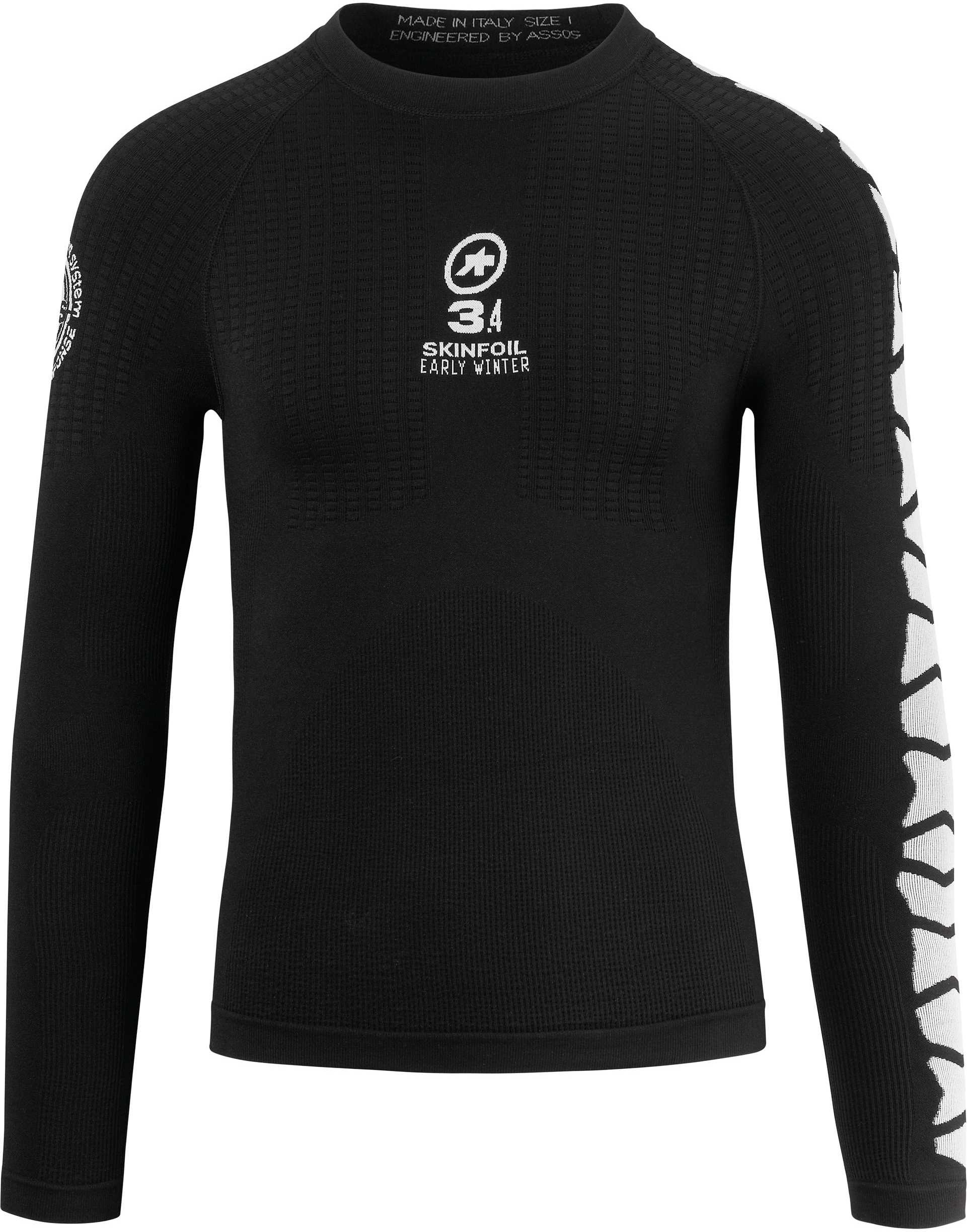 Undertøj Assos LS Skinfoil Earlywinter Evo7 sort | Base layers