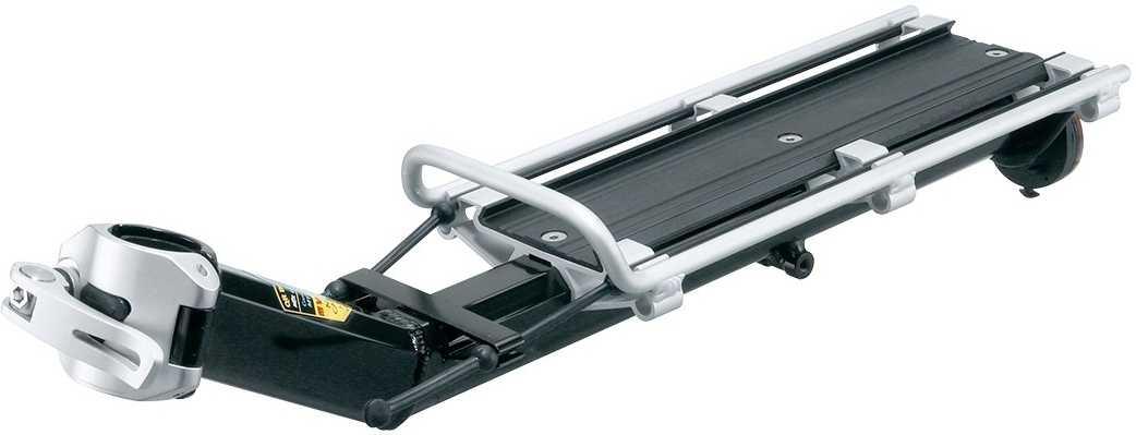Pakethållare för sadelstolpe Topeak MTX Beamrack V-Type svart/silver | Rear rack
