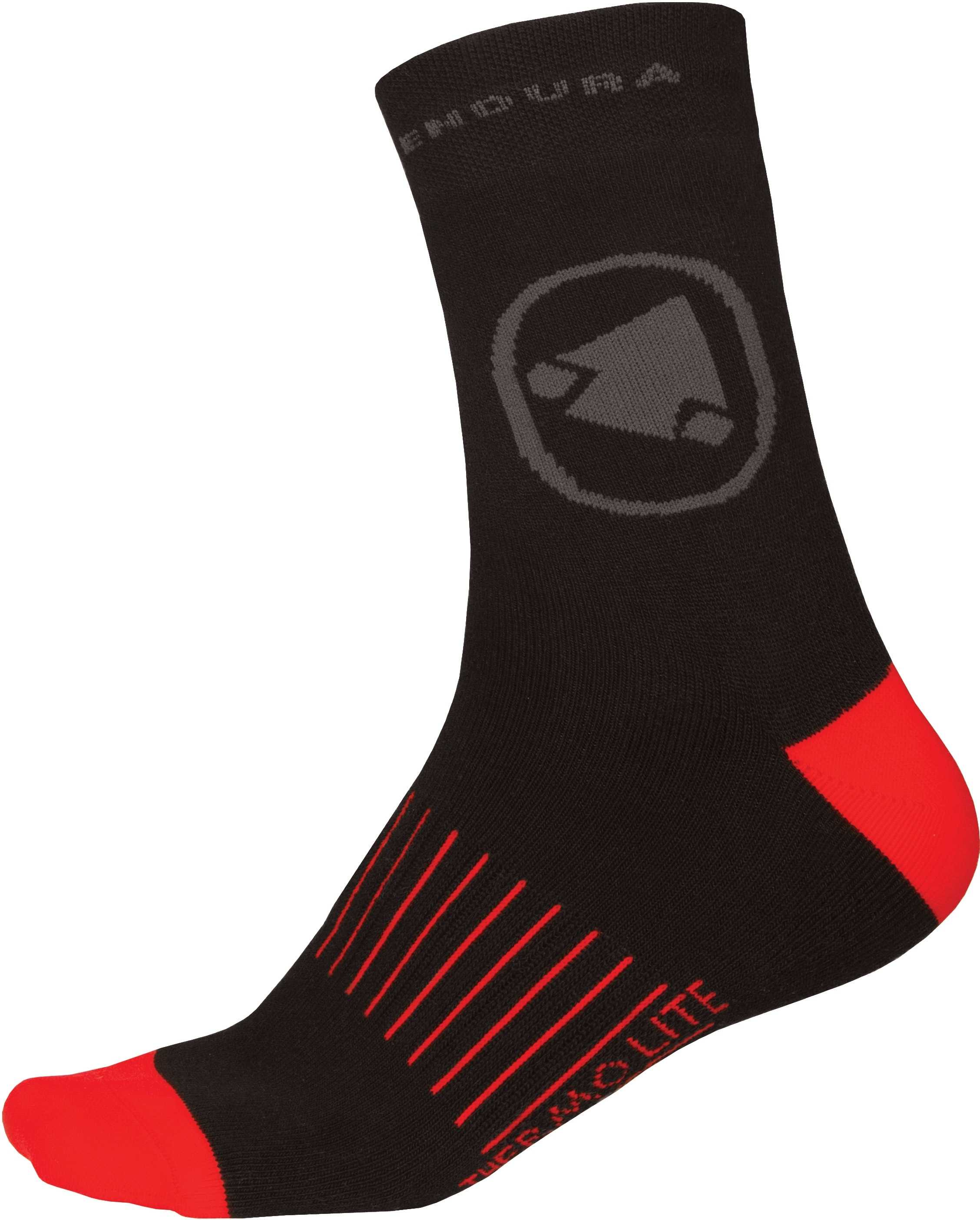 STRØMPER Endura Thermolite II sort 2-pack | Socks