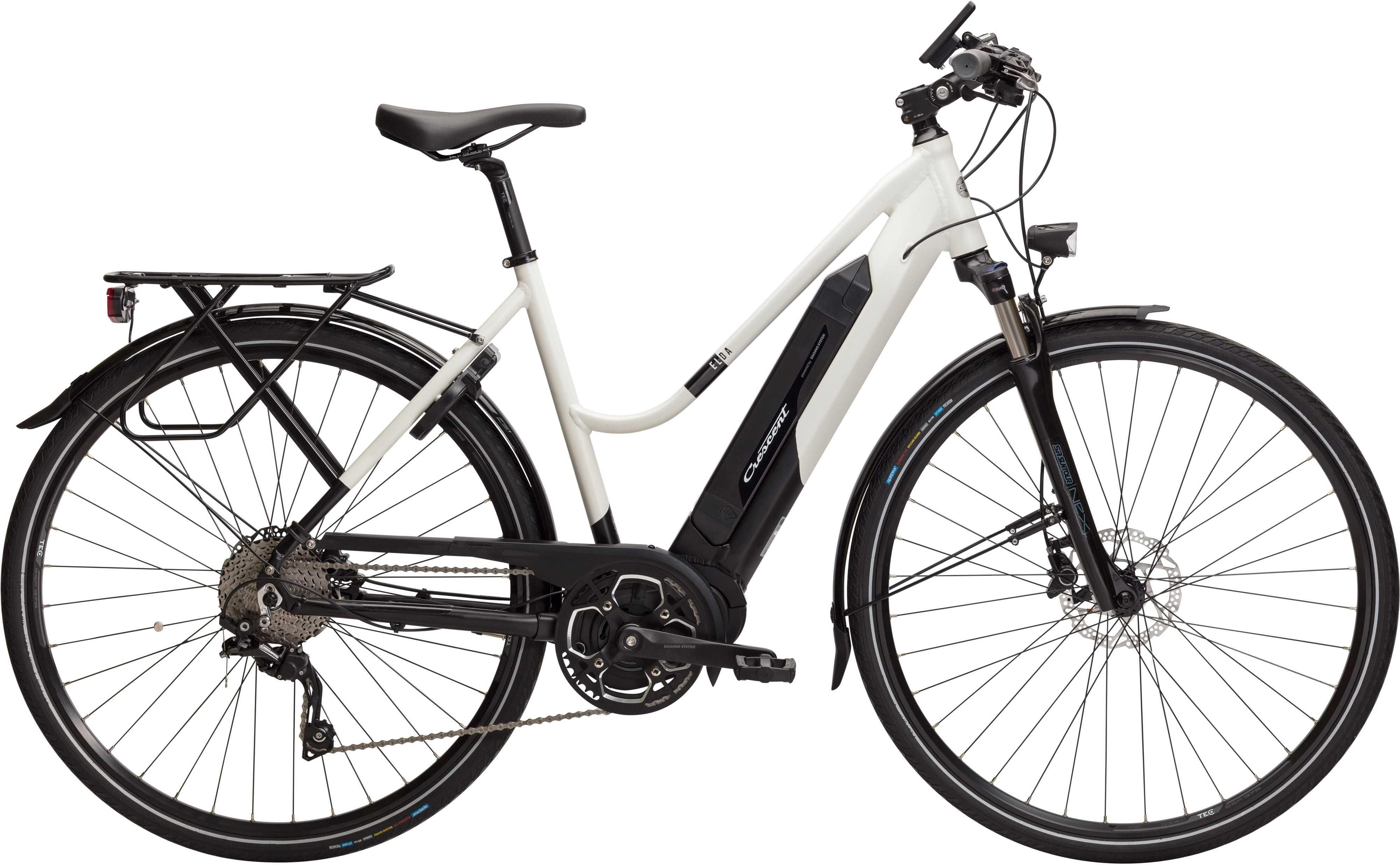 Crescent Elda matt vit | City-cykler