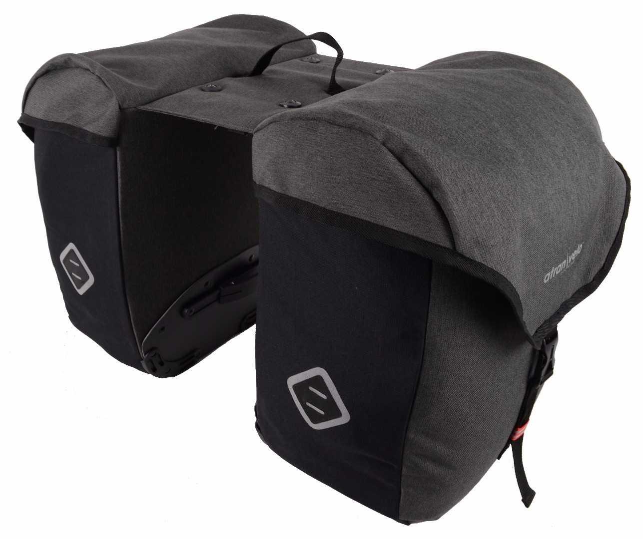 Pakningstaske Atran Velo ZAP Side Panniers 50 l sort/grå | Tasker til bagagebærer