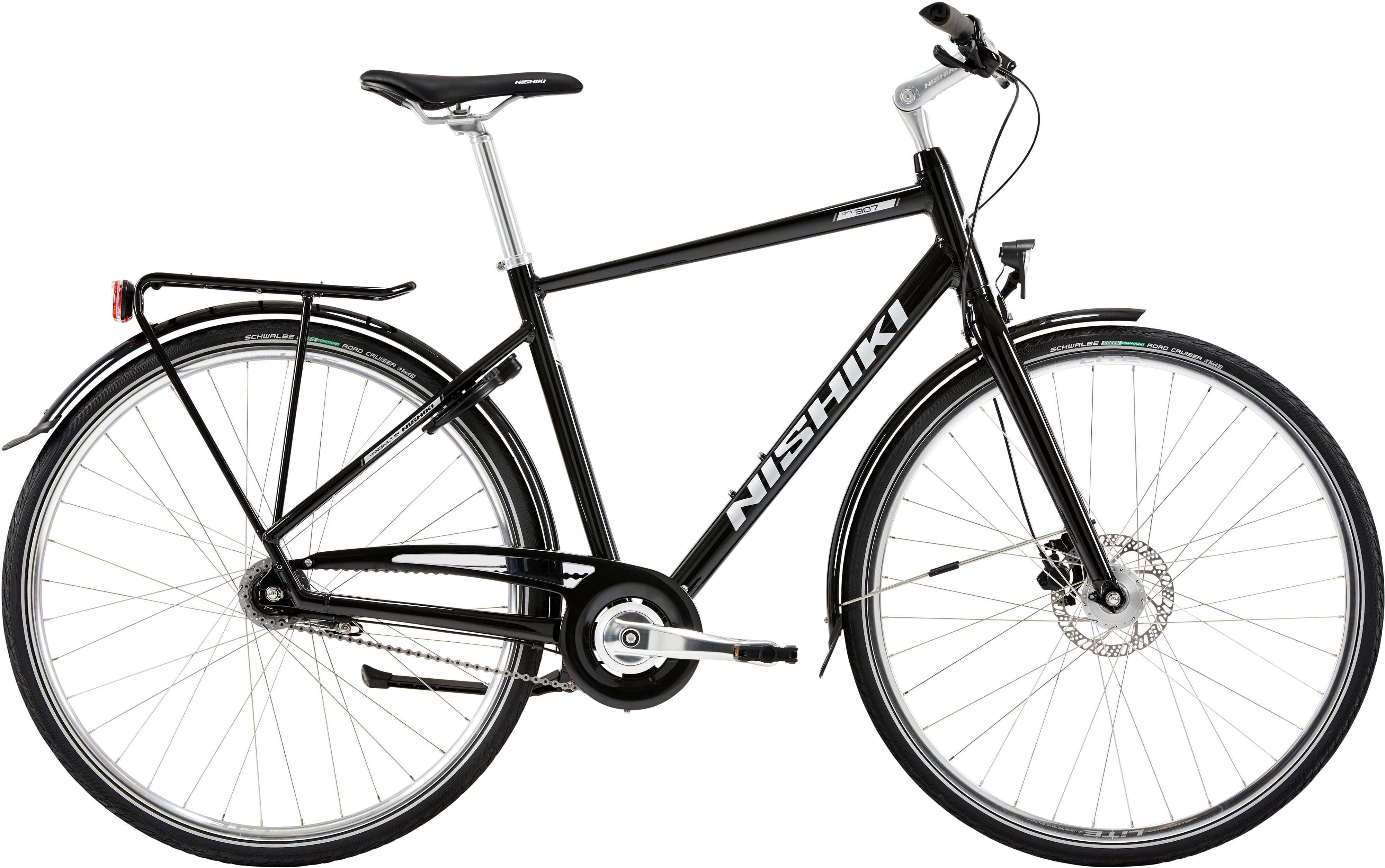 Nishiki City 307 herr svart | City-cykler
