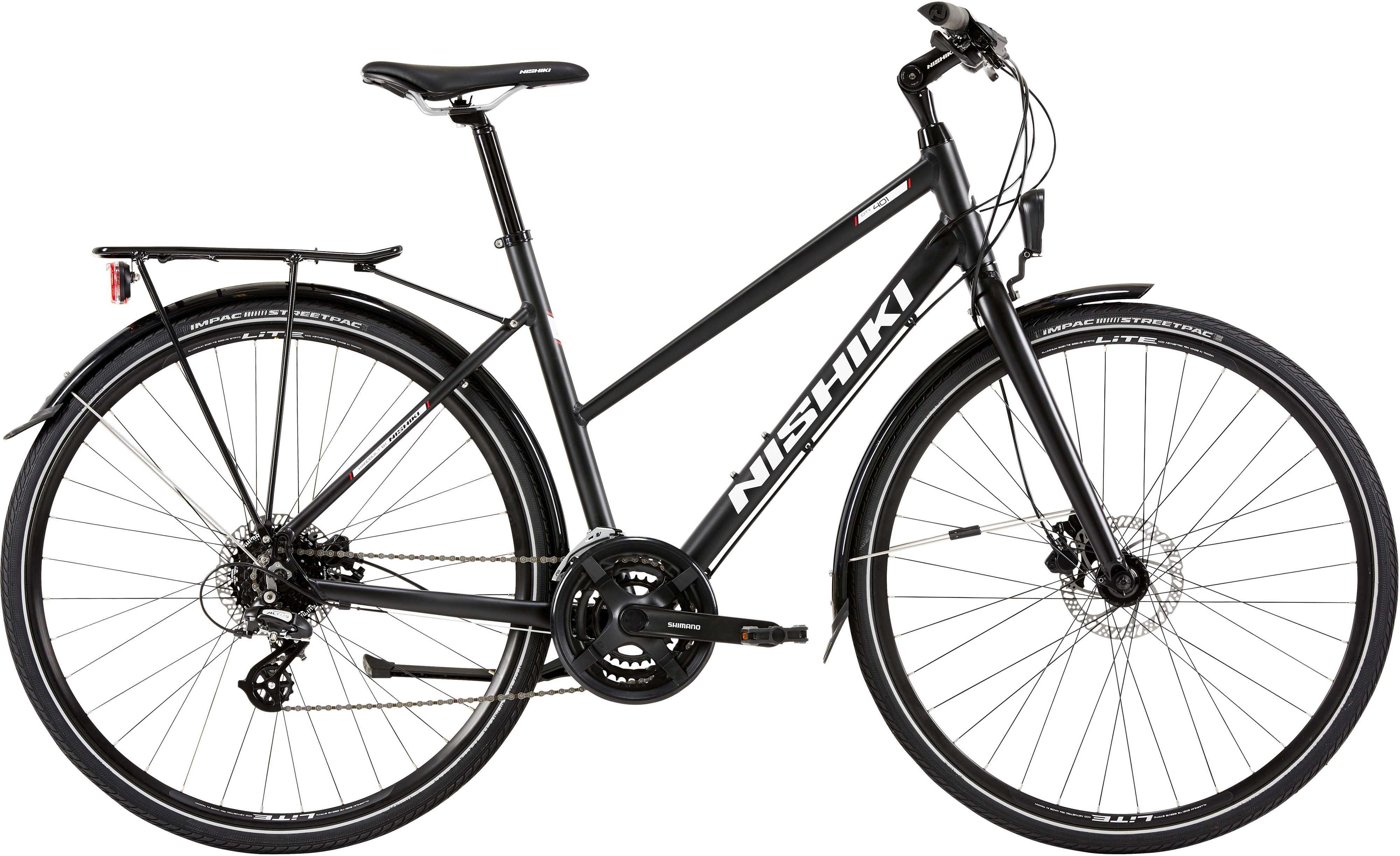 Nishiki City 401 dam svart | City-cykler