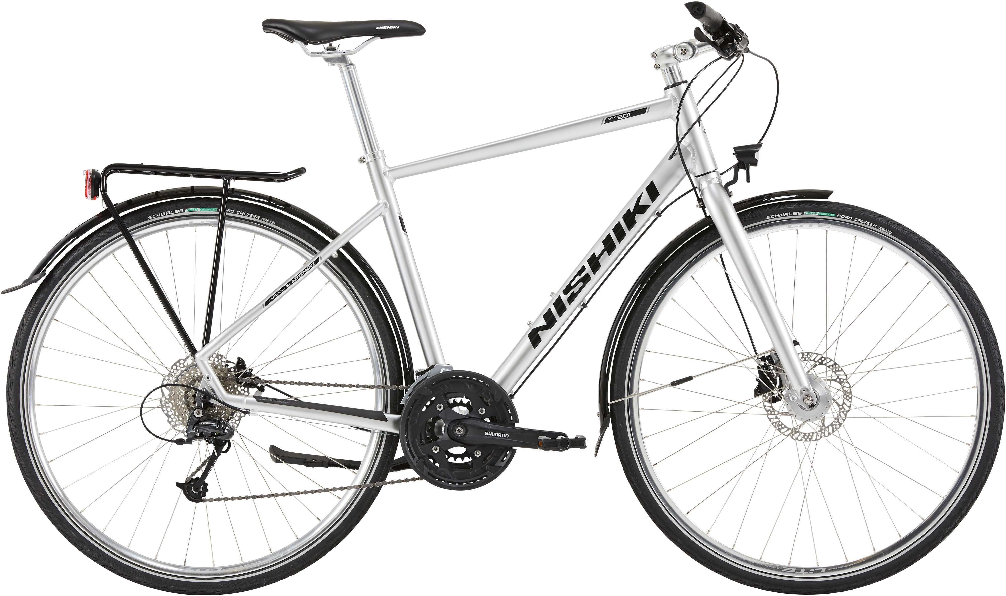 Nishiki City 601 herr silver | City-cykler