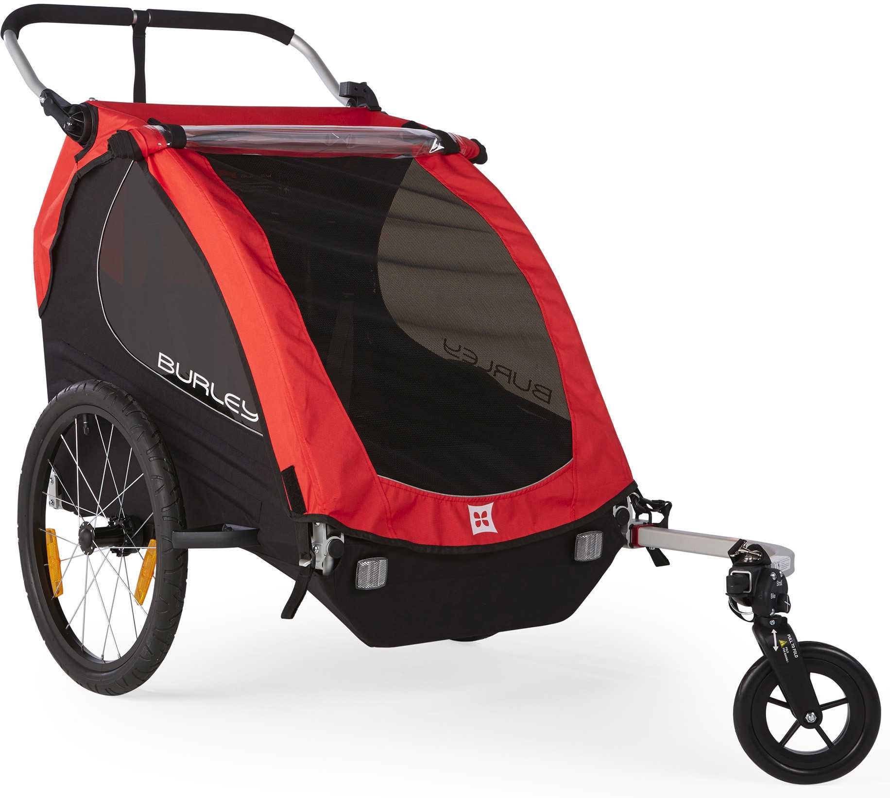 Cykelvagn Burley Honey Bee med Stroller 2 barn röd