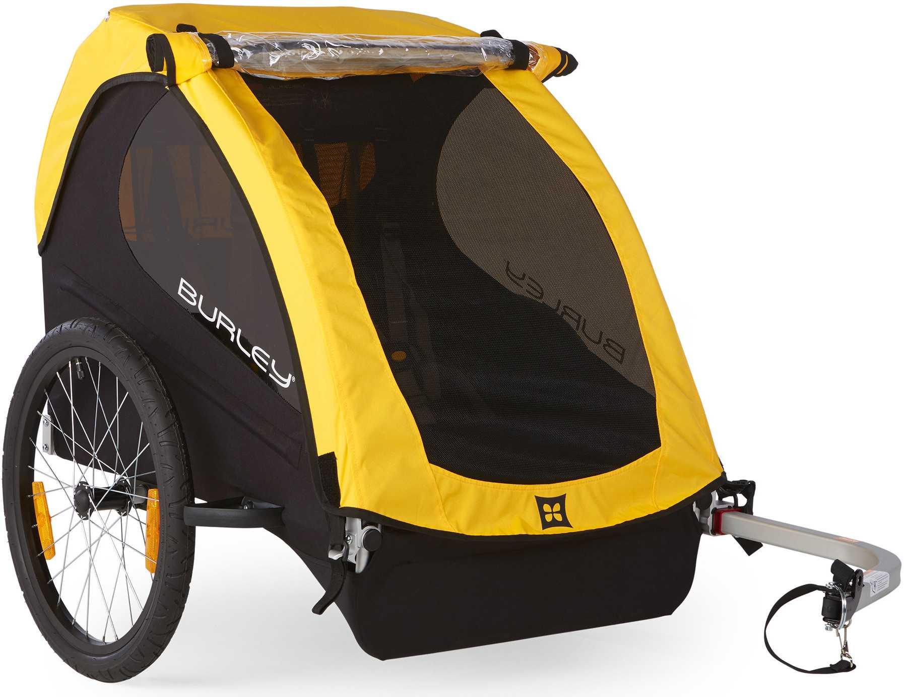 Cykelvagn Burley Bee 2 barn gul