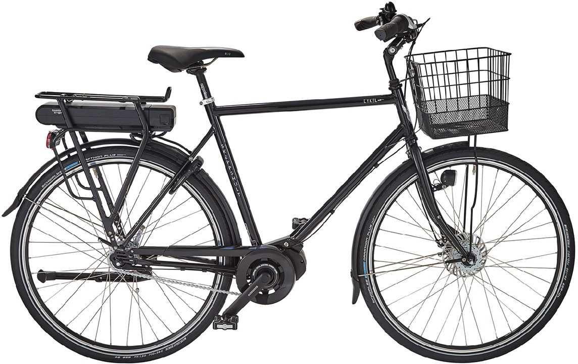 Skeppshult herr cykEL 7-växlad spegelsvart metallic 58 cm