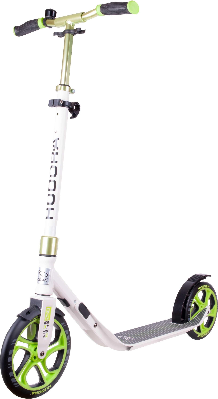 Sparkcykel Hudora CLvr 250/215 mm vit/grön