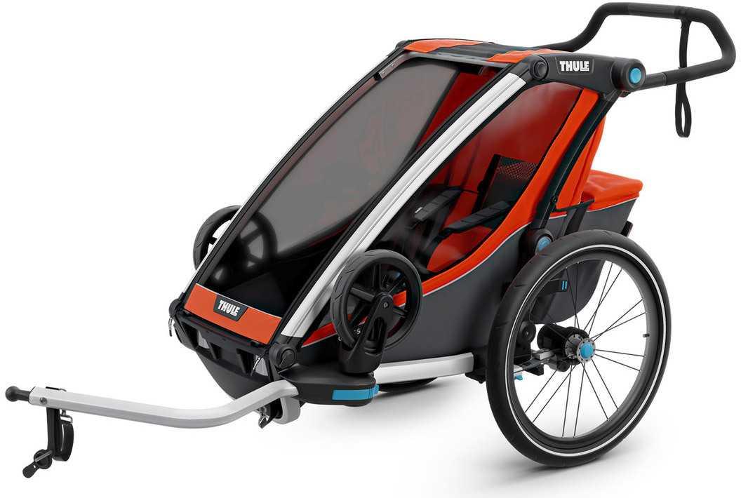 Cykelvagn Thule Chariot Cross 2 barn orange