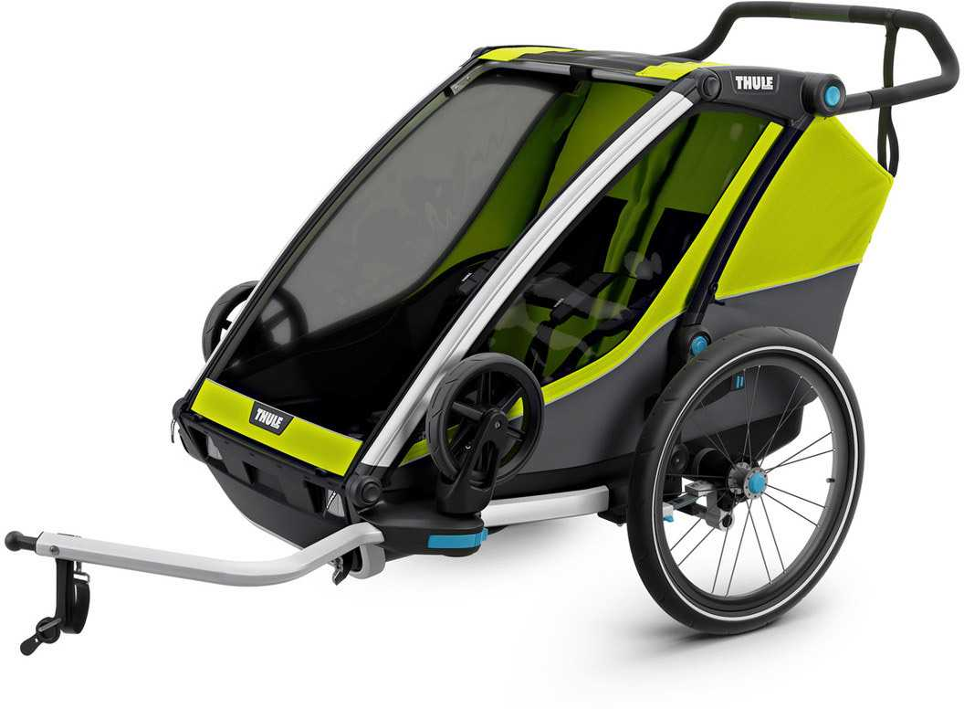 CYKELVAGN THULE CHARIOT CAB 2 BARN GRÖN