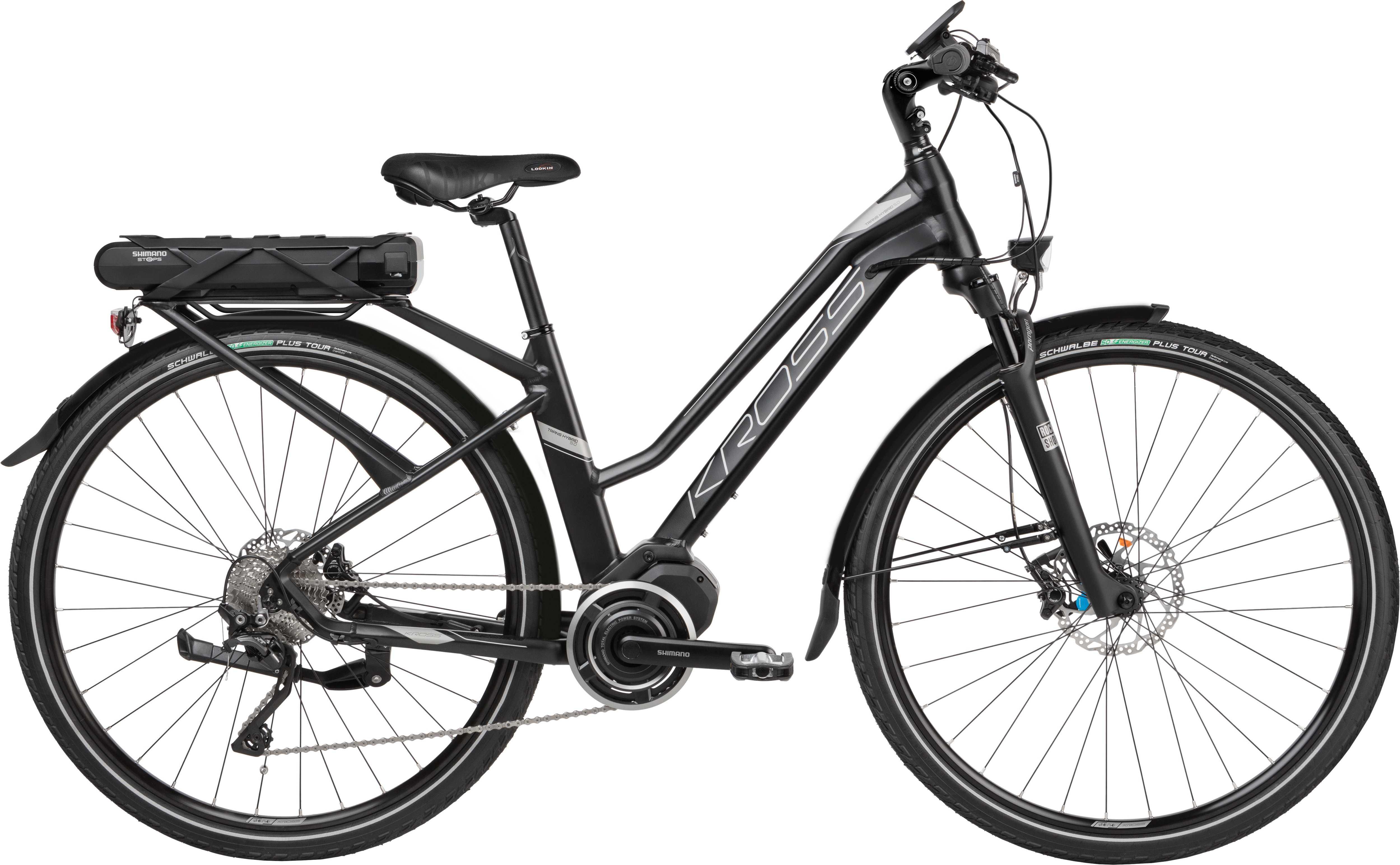 Kross Trans Hybrid 5.0 dam matt svart/Graphite 43 cm