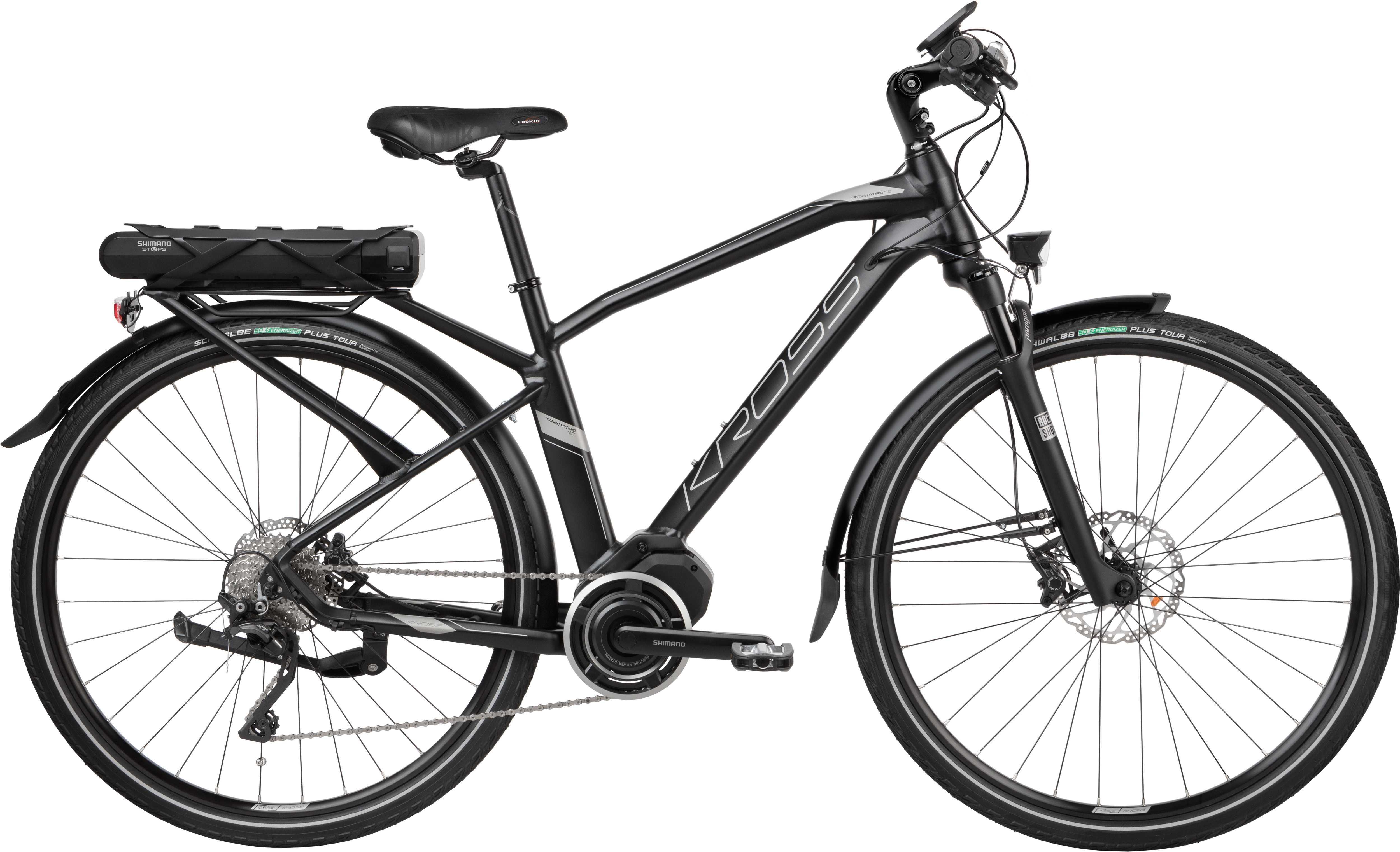 Kross Trans Hybrid 5.0 herr matt svart/graphite 53 cm